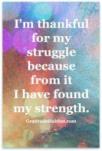 thankful struggle strength